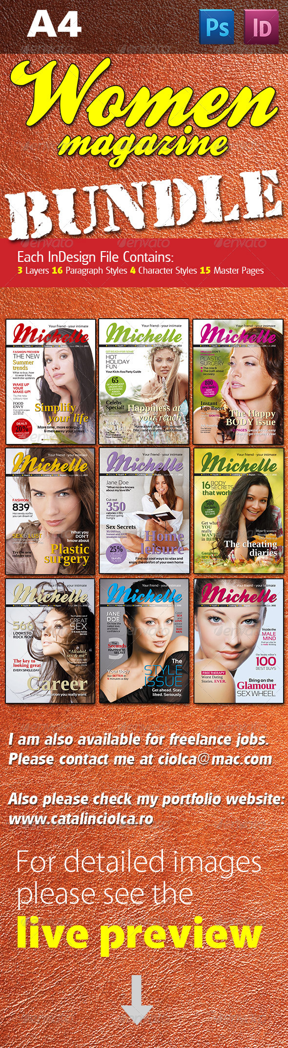 Women Magazine Bundle - Magazines Print Templates