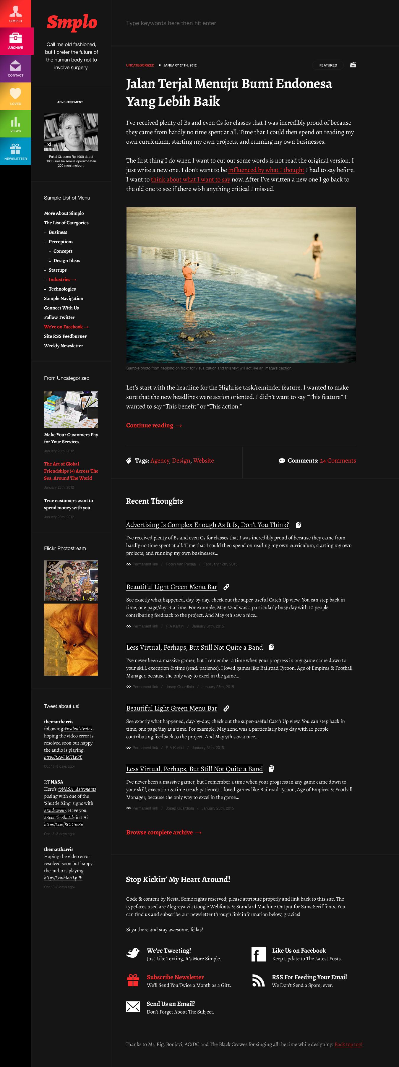 Simplo - Responsive WordPress Blog / Personal