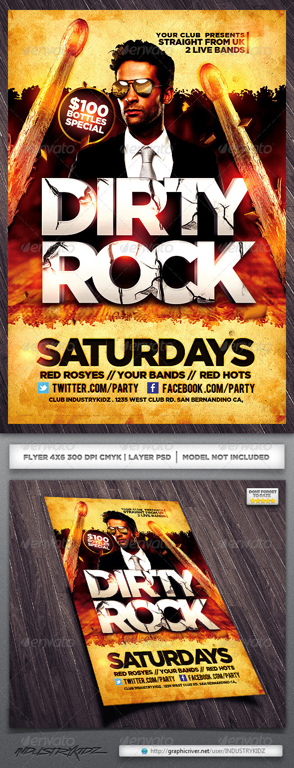 GraphicRiver Band Flyer 3892221