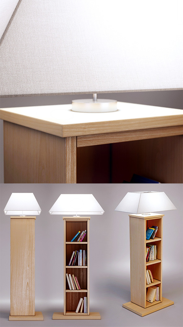3DOcean 3D model of Bookcase lamp CASAMILANO 3892238