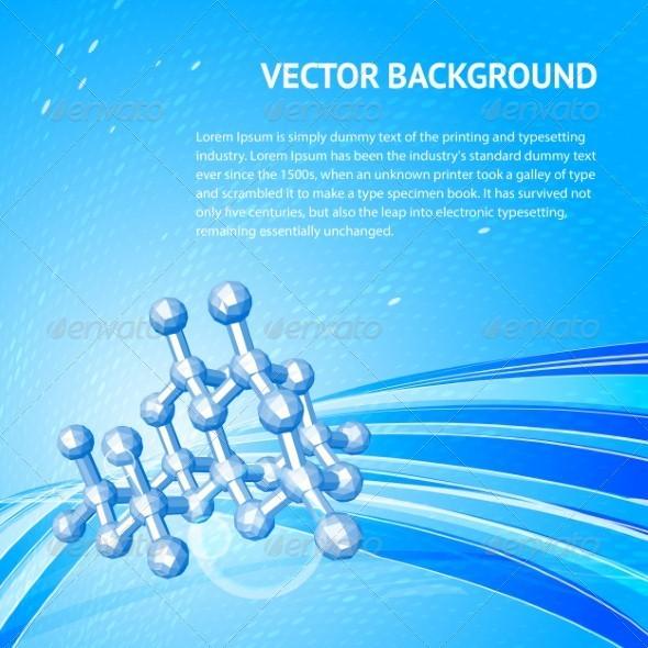 GraphicRiver Atom molecule 3892358