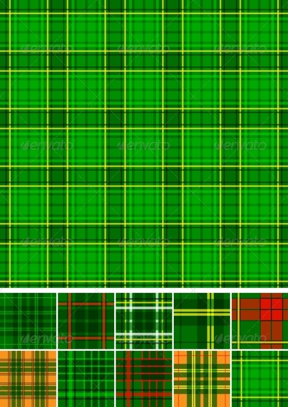 GraphicRiver Tartan plaid seamless 10 patterns 3892480