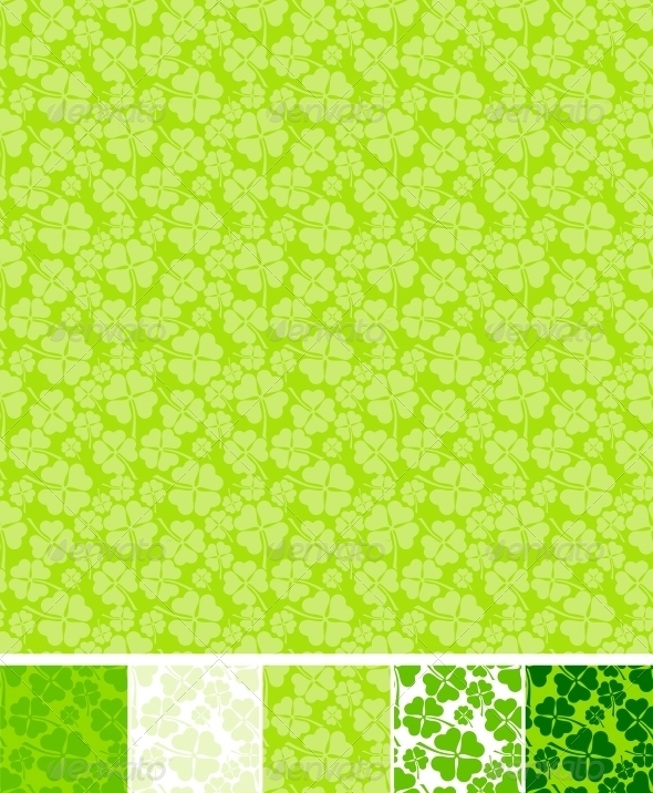 GraphicRiver Collection of clover patterns 3892521
