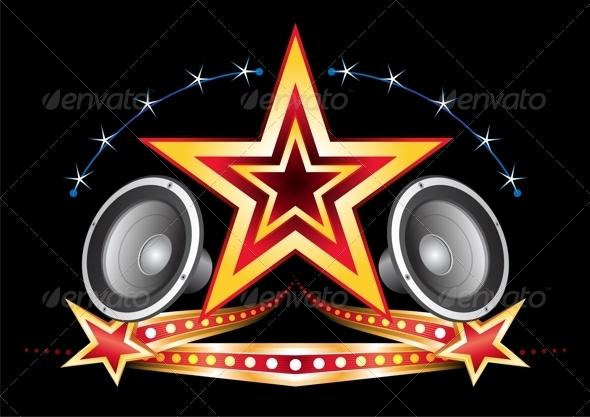 GraphicRiver Music neon 3892613