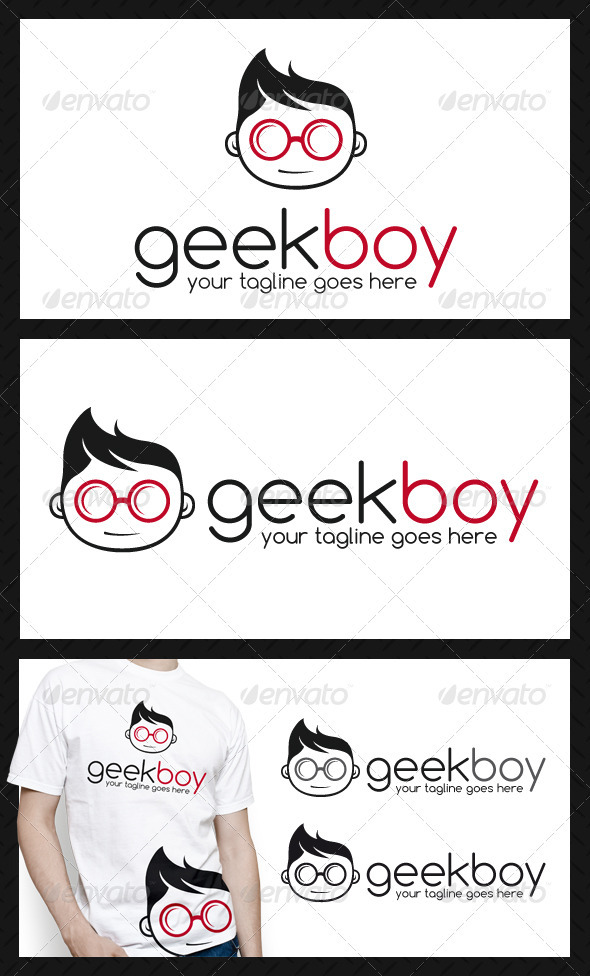 GraphicRiver Geek Logo Template 3893332