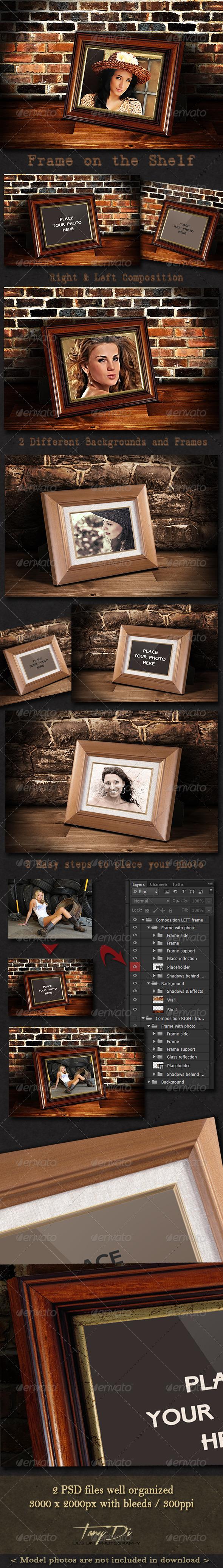 GraphicRiver Photo Frame on the Shelf 3894363
