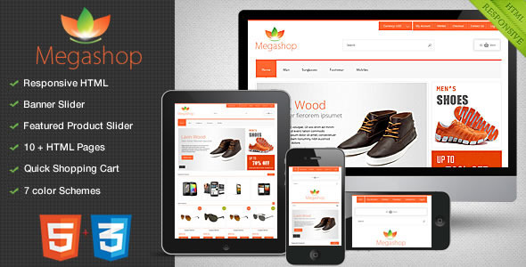 MEGASHOP HTML VERSION - Shopping Retail