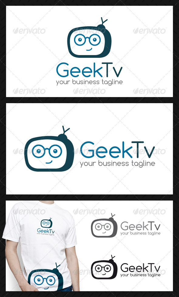 GraphicRiver Geek Tv Logo Template 3895216