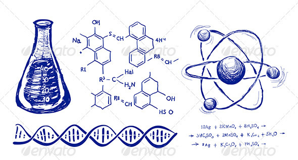 GraphicRiver Chemistry Hand Drawing Vector Set 3895262