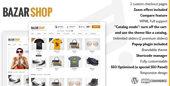 ThemeForest Bazar Shop Multi-Purpose e-Commerce Theme 3895788