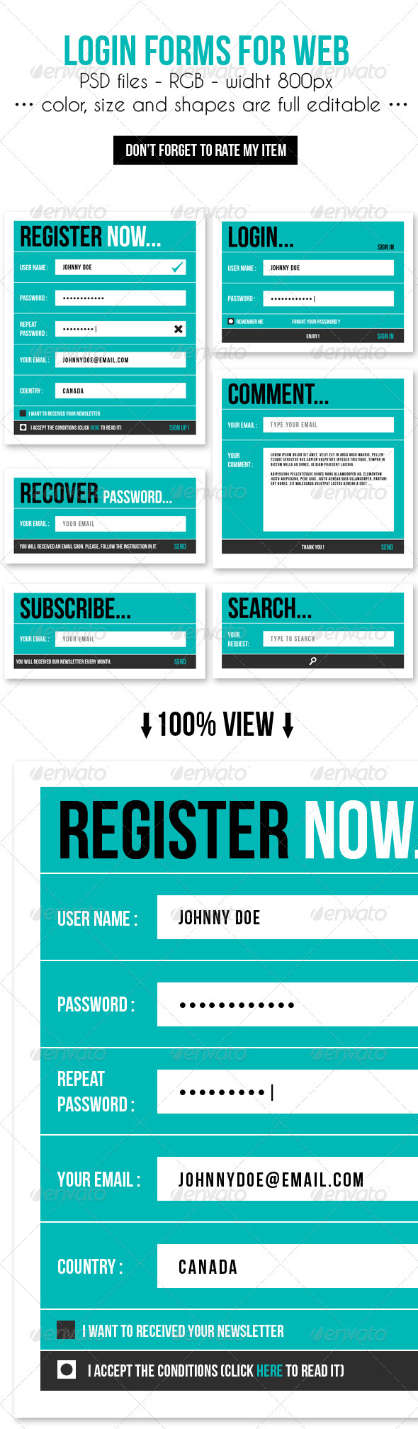 GraphicRiver Login Forms for Web 3896089