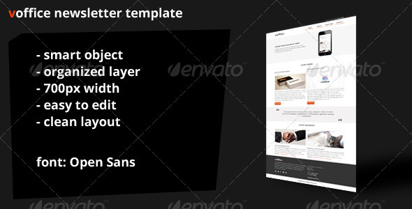 GraphicRiver Voffice Newsletter Template 3824215