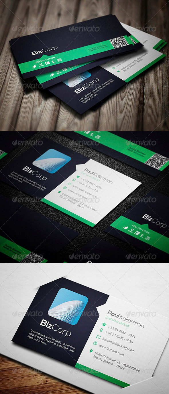 Very Clean Business Card - Corporate Business Cards