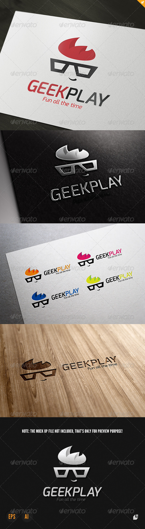 GraphicRiver Geek Play Logo 3770829