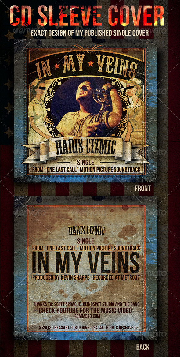 CD Sleeve Cover Design - CD & DVD artwork Print Templates