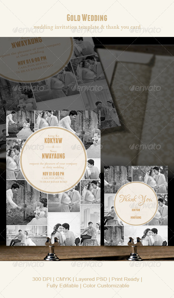 Gold Wedding - Weddings Cards & Invites