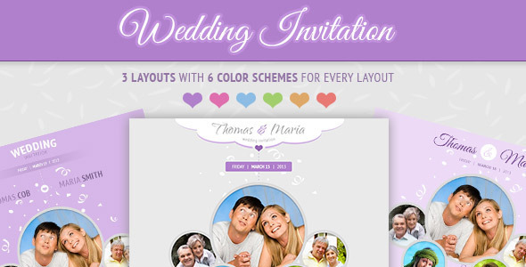 wedding invitation - soft and clean email template by figothemes, Wedding invitations
