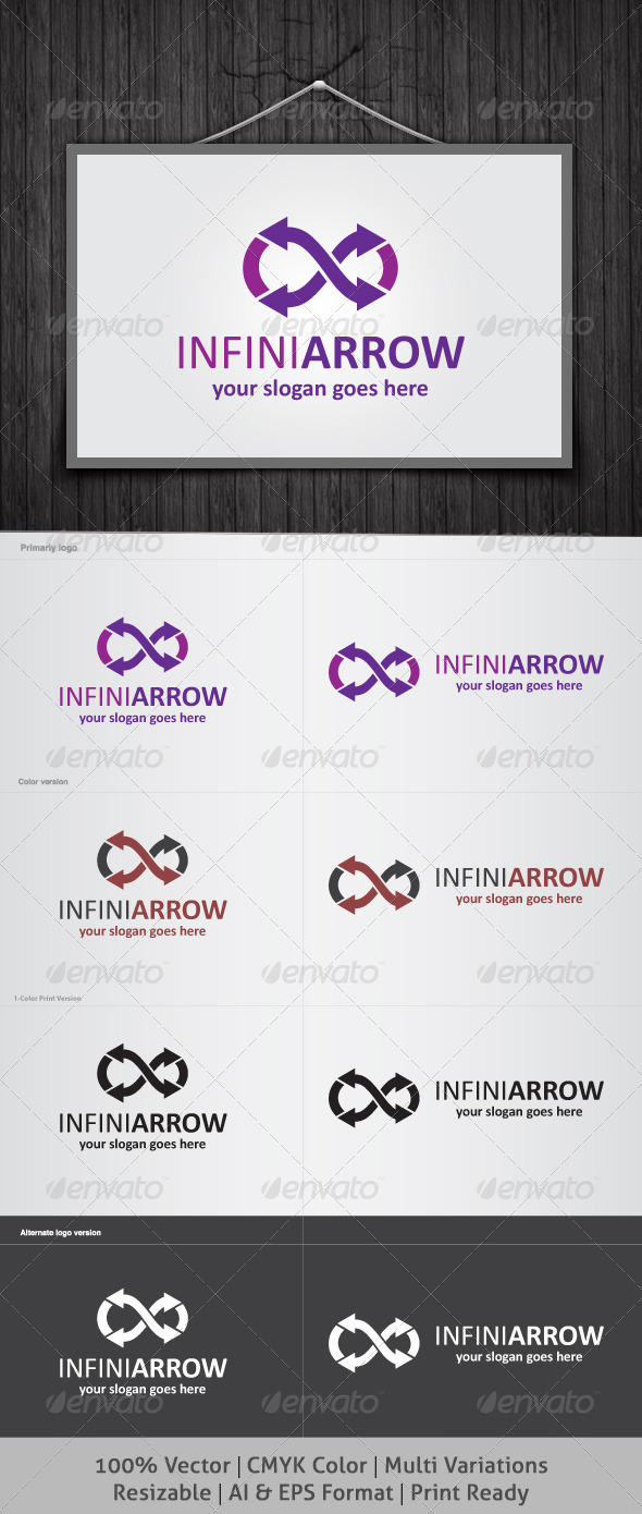 Infinity Arrow Logo - Symbols Logo Templates