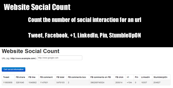 Website Social Count - CodeCanyon Item for Sale