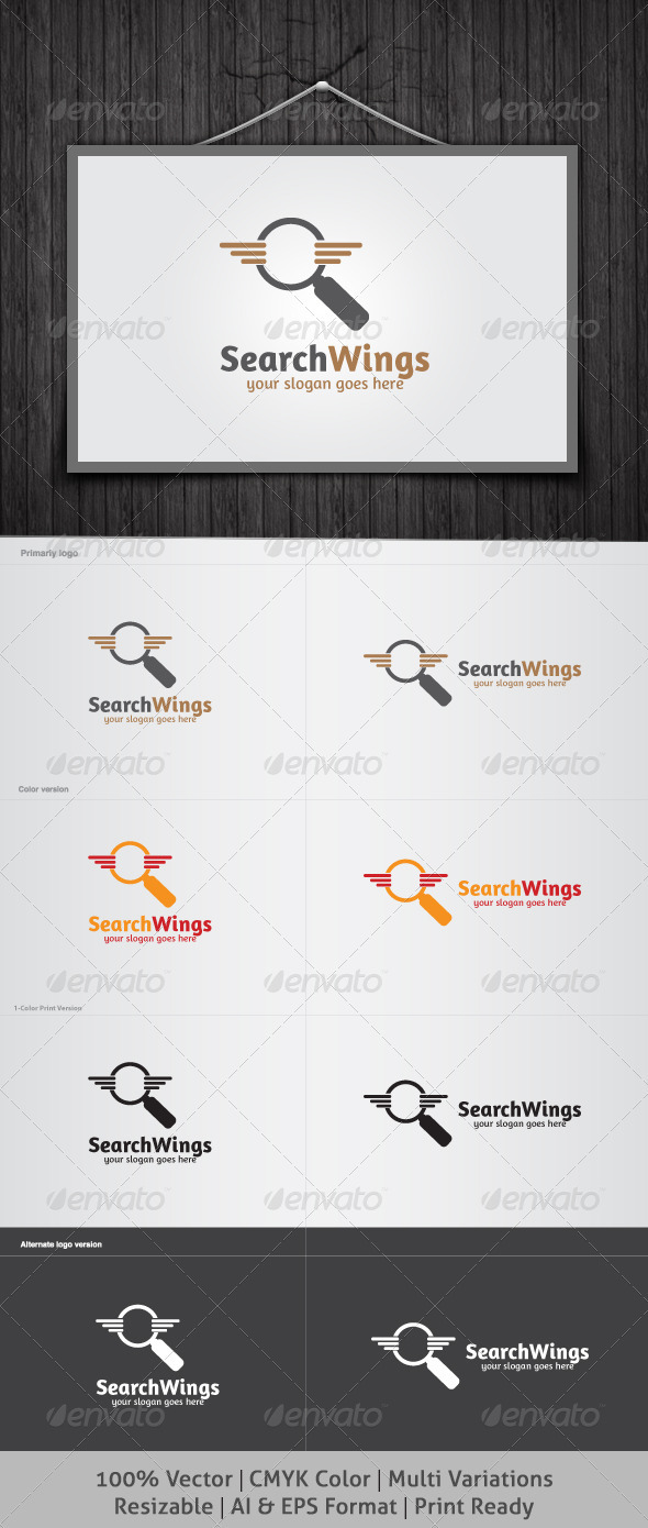 SearchWings Logo - Symbols Logo Templates