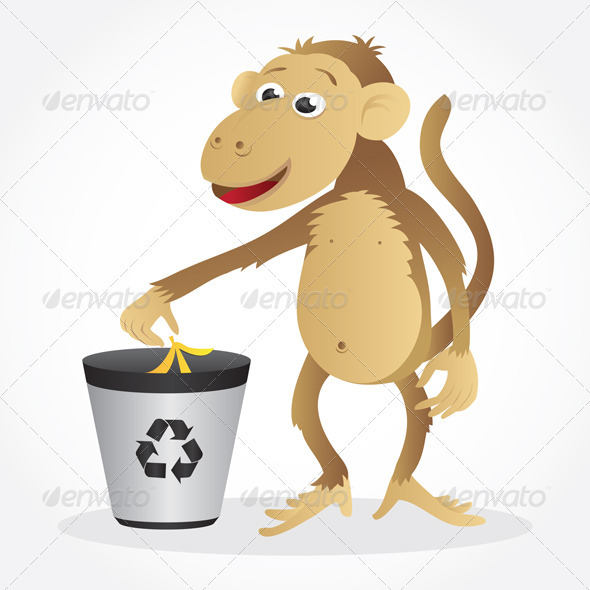 GraphicRiver Monkey Recycling 3900521