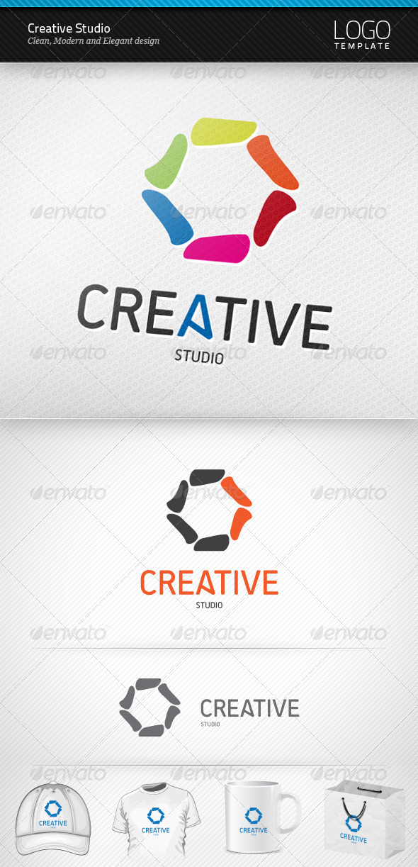 Creative Studio Logo - Vector Abstract
