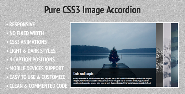 Pure CSS3 Image Accordion - CodeCanyon Item for Sale