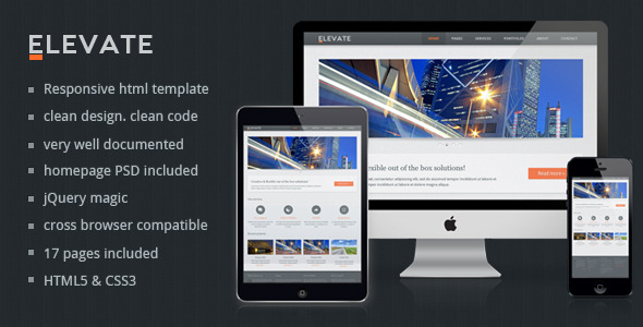 Elevate - Responsive Multipurpose HTML Template