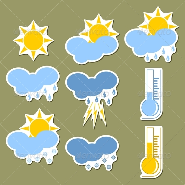 GraphicRiver Weather Forecast Stickers 3902678
