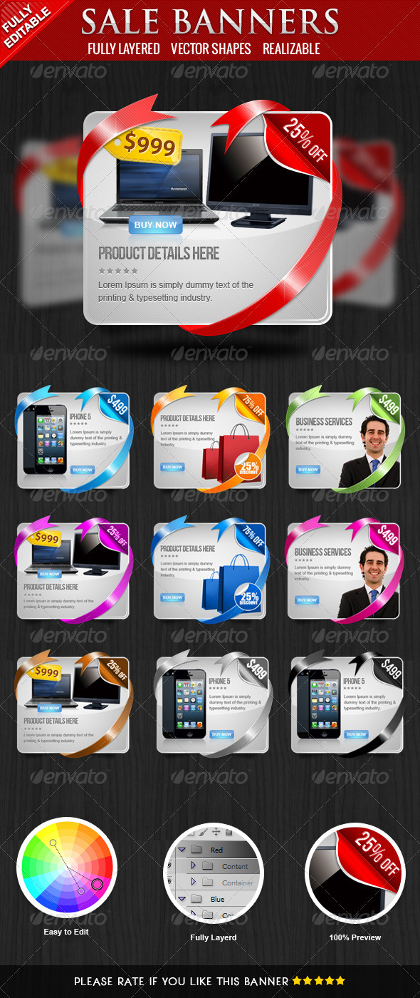 GraphicRiver Coupon Banners 3903428