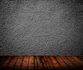 Empty room interior with black wall - PhotoDune Item for Sale