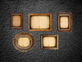 Golden frames on the black wall - PhotoDune Item for Sale