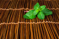 Mint leaves on wooden base - PhotoDune Item for Sale
