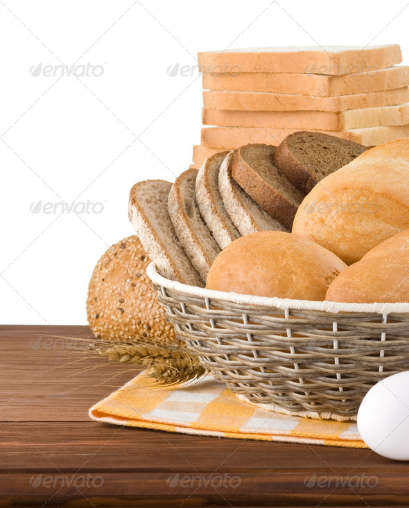 PhotoDune fresh bread on white background 3905721