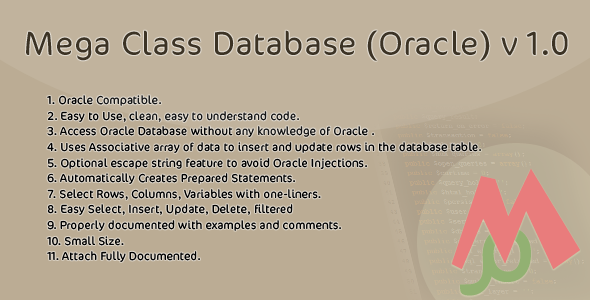 Mega Class Database (Oracle) v 1.0