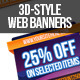 3d Web Banners - GraphicRiver Item for Sale