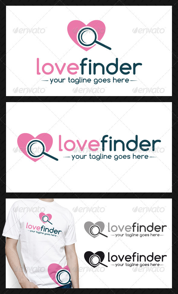 GraphicRiver Love Finder Logo Template 3907408