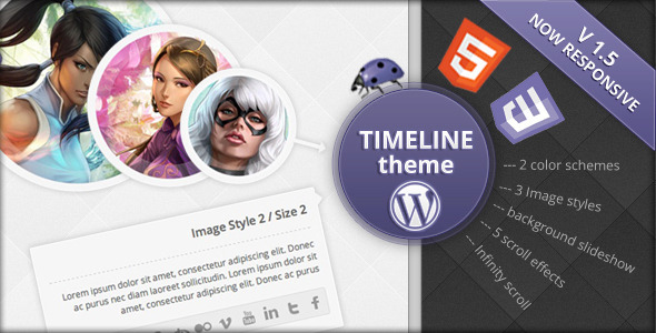 Timeline WordPress Theme - Creative WordPress