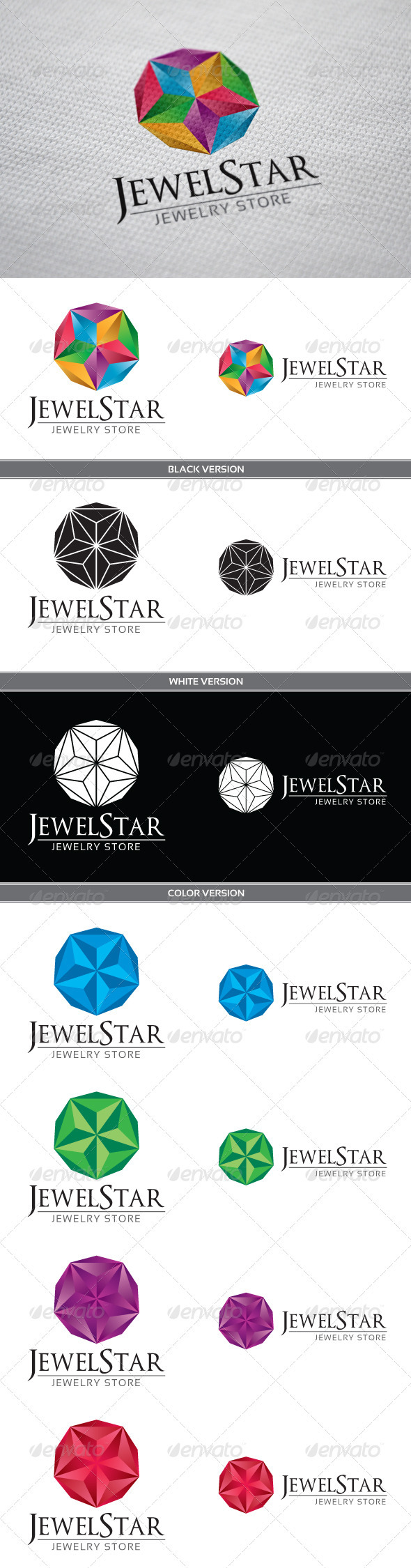 GraphicRiver JewelStar Logo 3726172