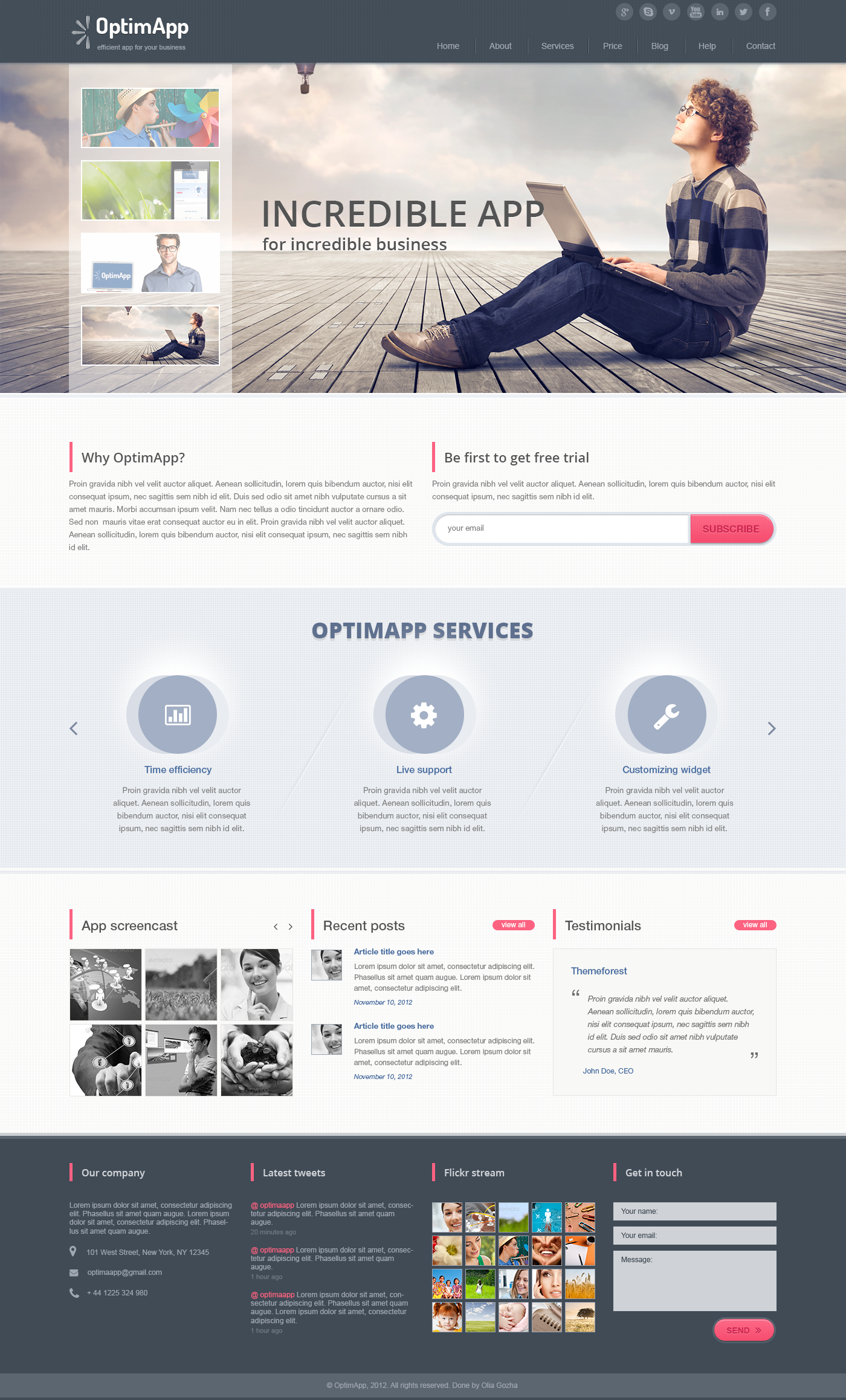OptimApp - Responsive Bussines &amp; Technology PSD
