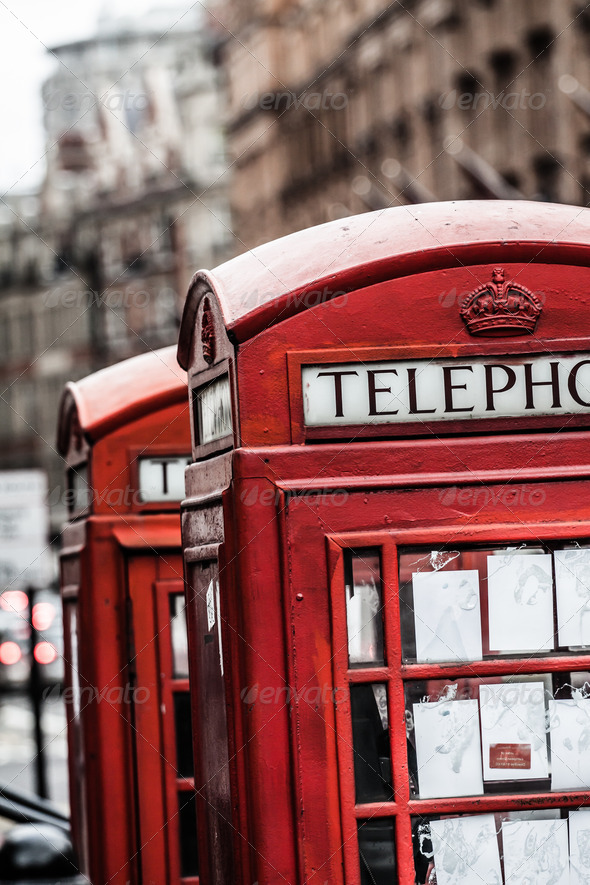 PhotoDune Classic red British telephone box in London 3911807