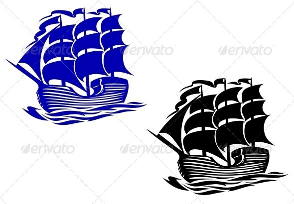 GraphicRiver Brig sail ship 3910057