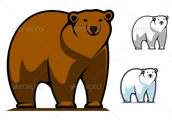 Funny cartoon bear mascot - Animals Characters