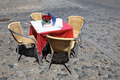 Empty cafe table and chairs - PhotoDune Item for Sale