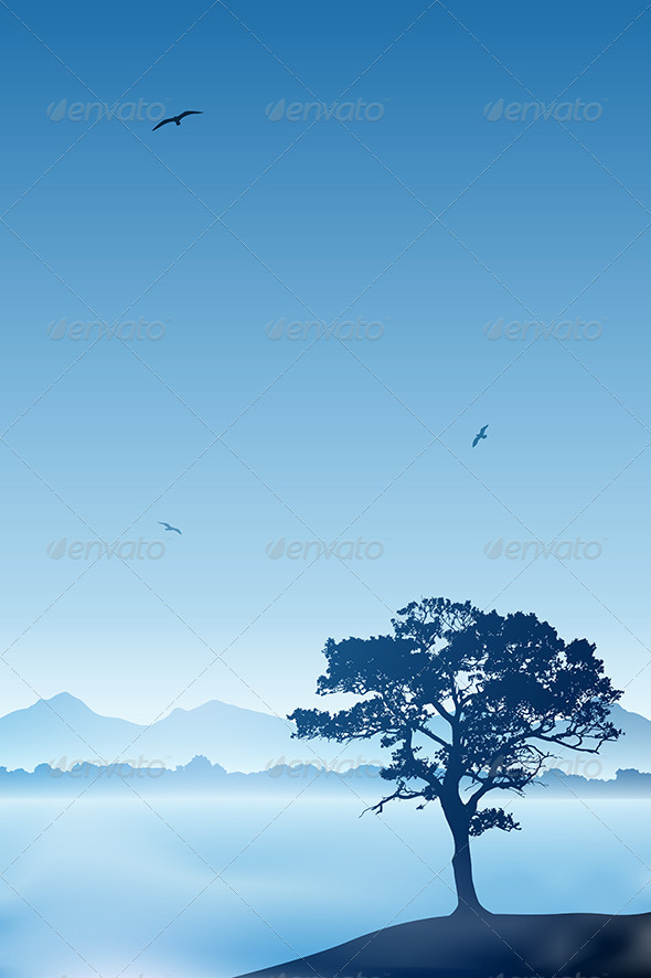 GraphicRiver Lone Tree 3910828