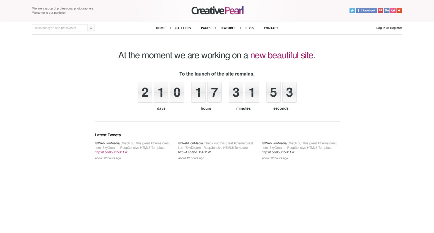 CreativePearl - Premium PSD Template