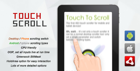 CodeCanyon AIR AS3 Touch Scroll 3914642