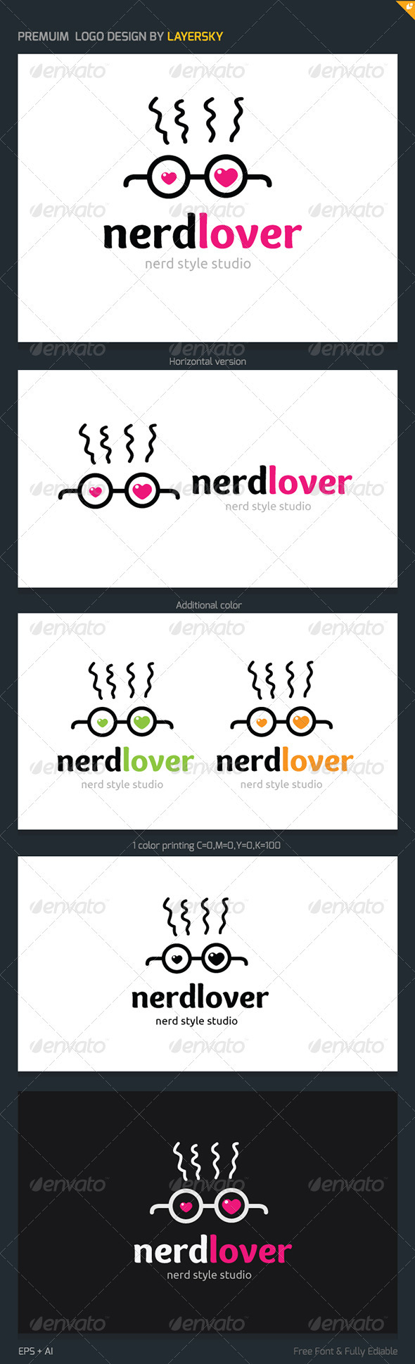 GraphicRiver Nerd Lover Logo 3802198