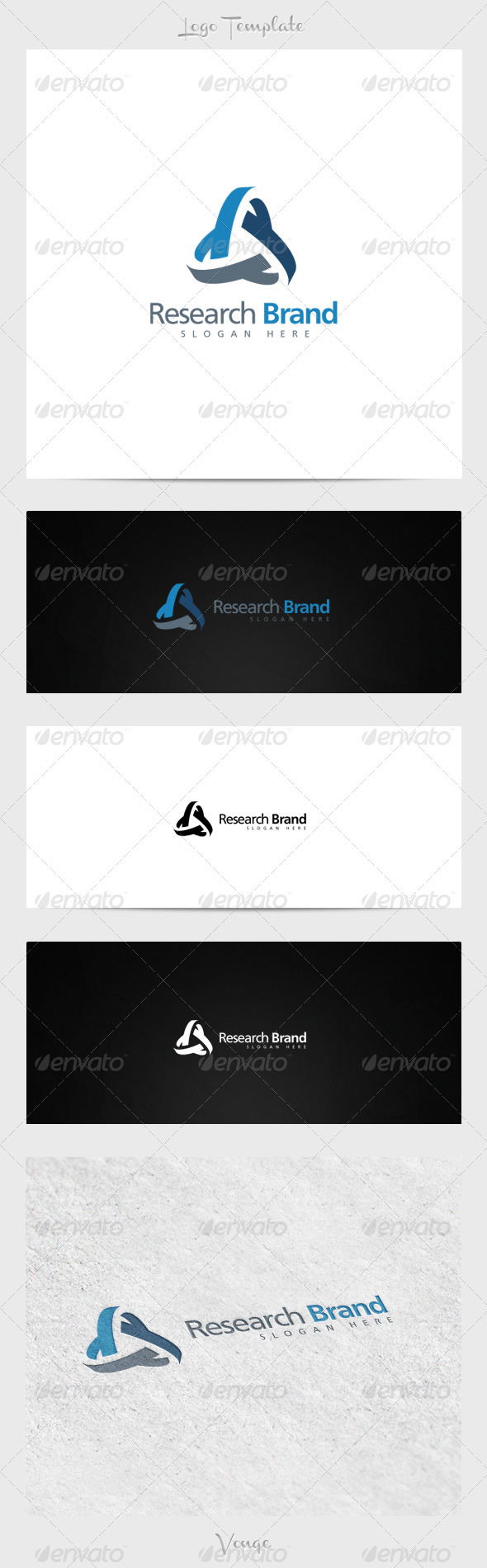 Research Brand - Letters Logo Templates