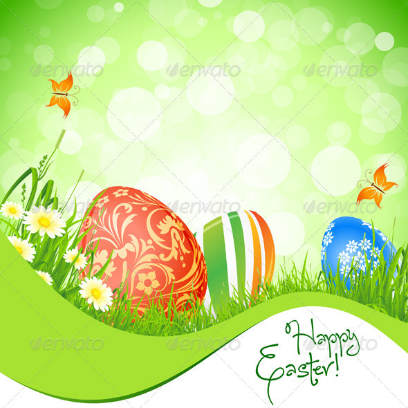 GraphicRiver Beautiful Easter Background 3916287